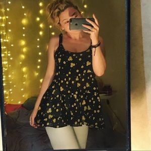 flowy sunflower blouse
